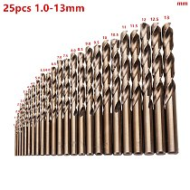 High Quatity HSS-Co M35 Cobalt Straight Shank Twist Drill Bit Power Tools Accessories for Metal Stainless Steel Drilling