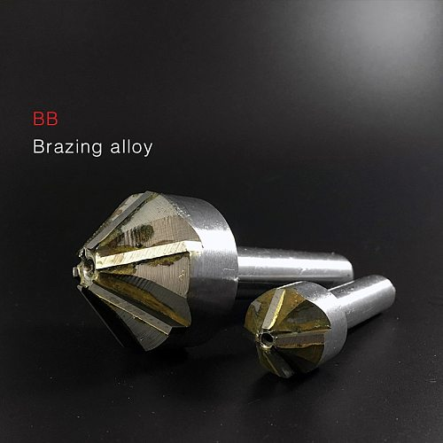 Countersink Drill with Brazing Carbide Blade Chamfering Milling Tool 16mm 20mm 25mm 30mm 40mm