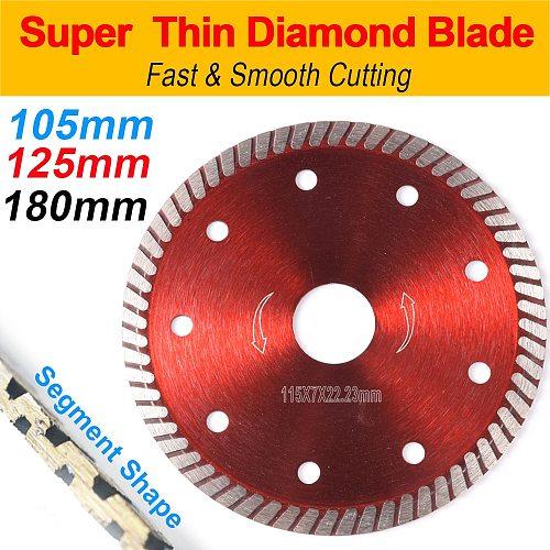 105/115/125mm Hot Pressed Superthin Diamond Turbo Grinder Saw  Wheel Blades Ceramic Tile Cutting Disc Granite Diamond blades D30