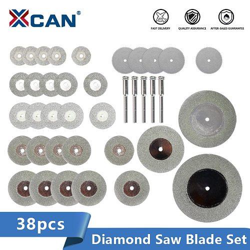 XCAN Diamond Saw Blade Mini Circular Saw Blade 38pcs 16-60mm Diamond Cutting Saw Disc For Dremel Rotary Tools