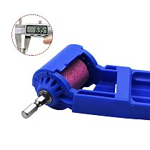 2-12.5mm Portable Drill Bit Sharpener Corundum Grinding Wheel Drill Bit Sharpener Titanium Drill Portable Drill Bit Power Tool