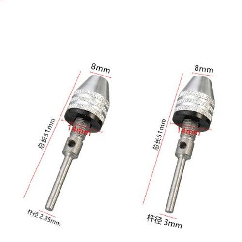 Universal Drill Chuck Adapter Convertor Keyless Shaft Chuck Clamp 0.3-6.5mm Electric Motor Shaft Mini Chuck Fixture