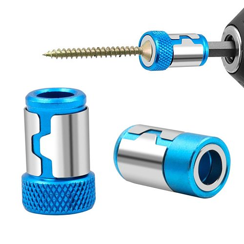 1pcs Ring Screwdriver Bits Anti-corrosion Universal Magnetic Ring Alloy Magnetic Ring Magnetizer Drill Bit Magnetic Ring