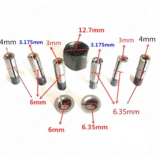 collet nut convert transfer adapter 1/4'' 1/8'' 3mm 4mm 6mm for Makita 3701 3708FC 3708F 3707FC 3706 3707F 3705 3703 3700B 3700D
