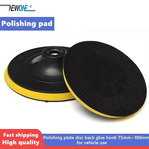 M14 M10 Polishing Pad Buffing Plate Disc Adhesive Backed Hooks 75mm~180mm for Car