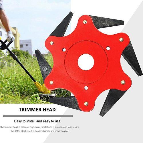 65Mn 6 Blades Cutter Head Grass Trimmer Brush Weed Brush Cutting Head Garden Power for Lawn Mower Tool Accessories