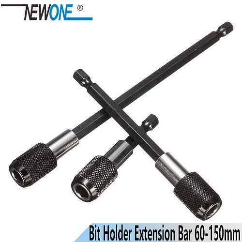 NEWONE 1/4 Inch Hex Shank Quick Release Screwdriver Bit Holder Extension Bar 60mm 100mm 150mm