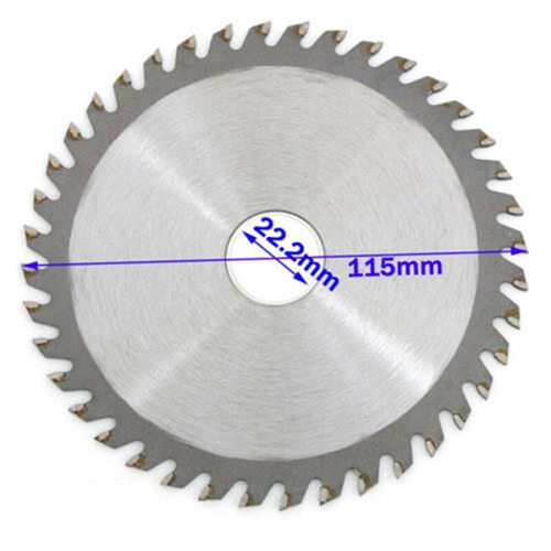 4.5/5 Inch 115/125mm 40 Teeth Wood Carving Disc Circular Saw Blade Cutter For Wood Metal Cutting Disc For Angle Grinder