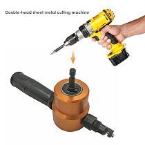Sheet Metal Cutting Nibble Metal Cutting Double Head Nibbler Blade Saw Cutter Tool Drill Accessory Metal Cutting Machine Hot