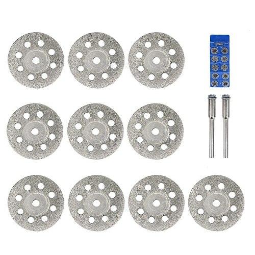 XCAN Diamond Saw Blade 20mm 22mm 25mm 30mm With Mandrel for Dremel Rotary Tools Mini Diamond Cutting Disc