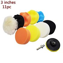 Buffing Pad Polishing Pad Kit For Car Polisher Pads M10 Drill Adapter Thread Abrasive Tools 11Pcs/Set