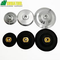 SHDIATOOL Back pad for diamond polishing pads M14 Thread Diameter 3 /4 /5   Rubber based /Aluminum based backer backing holder