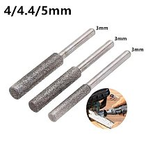 HILDA 3mm Shank 4/4.4/5mm Diamond Grinding Head Polishing Tool for Chain Saw Sharpening