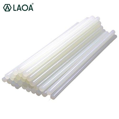LAOA 50pcs Translucent  7mm/11mm Hot Melt Glue Sticks For Glue Gun Craft Album Tools