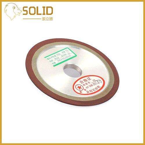 Diamond Grinding Wheel Resin Bond Grinder for Tungsten Steel Milling Cutter Sharpener 125/150/180/200mm 150/240/320/400Grit 1Pc