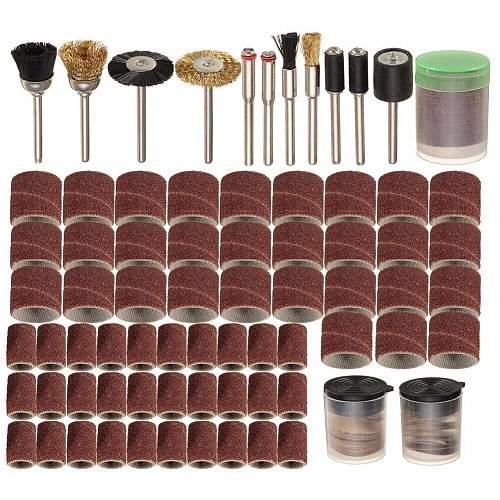 150Pcs Rotary Power Tool Fits Dremel 1/8  Shank Sanding Polish Accessory Bit Set