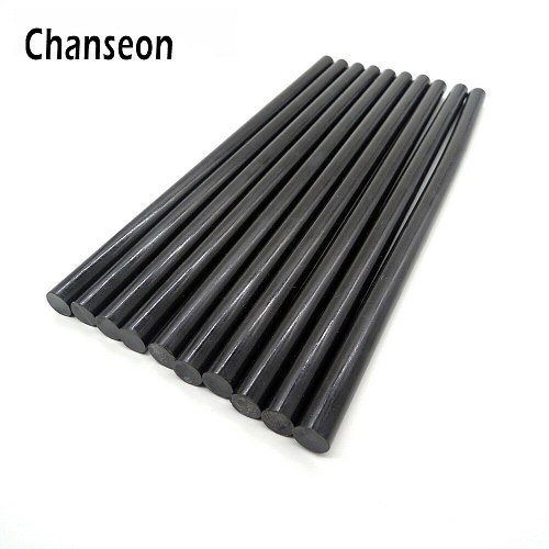 Chanseon Hot Melt Glue Sticks Glue Black Alloy Accessories 10pcs/lot 11mm DIY Tools Adhesive Repair 270mm Length