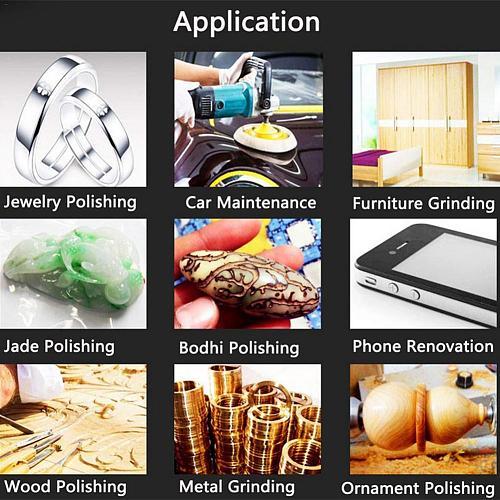 100PCS Sanding Discs Headlight Restoration Sandpaper Aluminum Oxide Sander Pad for Furniture Grinding Jade Polishing Tools Set