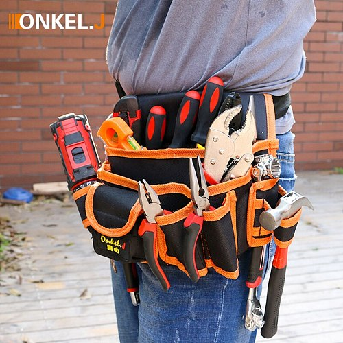 Multi-functional Electrician Tools Bag Waist Pouch Belt Storage Holder Organizer Garden Tool Kits Waist Packs Oxford Cloth