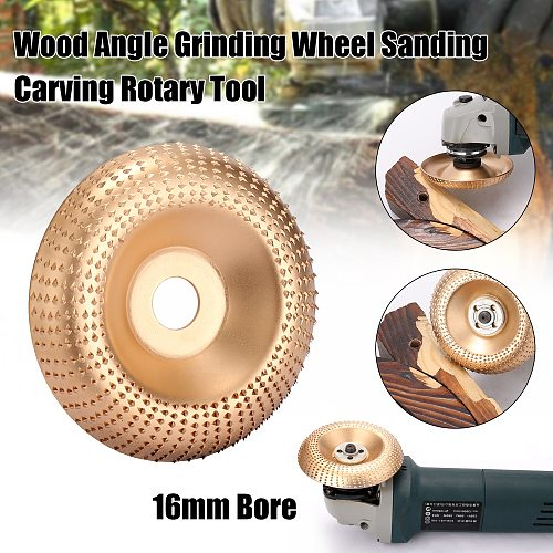 100mm Wood Angle Grinding Wheel Sanding Carving Rotary Tool Abrasive Disc for Angle Grinder 16mm Bore