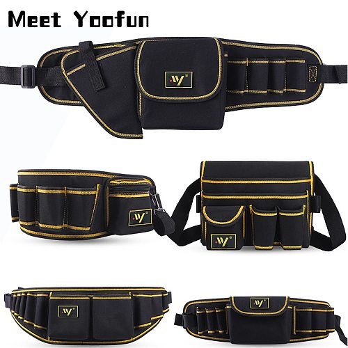 Multi-function Waist Pack Repair Tool Storage Bag Oxford Cloth Hardware Tool Pocket Wrench Pliers Storage Bag