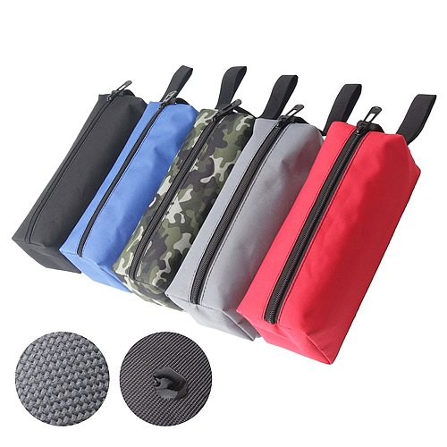 1Pcs Oxford Canvas Waterproof Hand Tool Bag Instrument Case Hardware Screws Nails Drill Bit Holder With Carrying Handles Strip