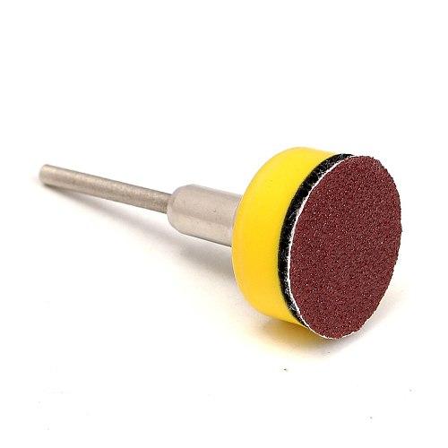 100Pcs Sanding Disc 1inch + Loop Sanding Pad 1inch + 1/8inch Shank Abrasives Hook Loop Backer SandPaper Mixed Set