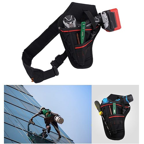 Multifunctional Drill Holster Waist Tool Bag Waterproof Electric Waist Belt Tool  Bag Wrench Hammer Screwdriver Tool