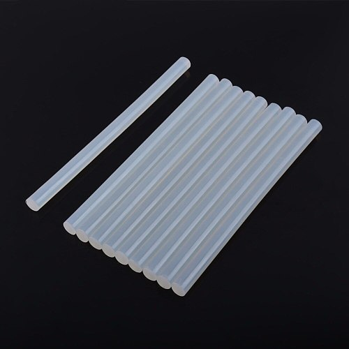 10Pcs/set Clear 11X200mm Hot Melt Glue Sticks For Electric Glue Gun DIY Stick Repairing Power Tools Accessories