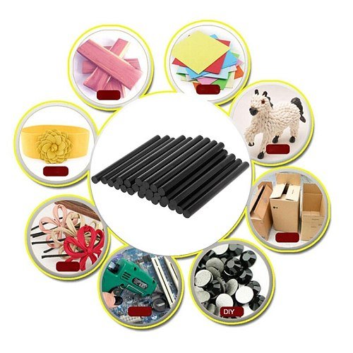 Durable 25pcs Hot Melt Glue Stick Black High Adhesive For DIY Crafts Toys Repair Tools