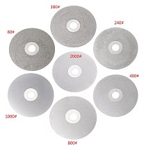 4  100mm 80-2000# Diamond Coated Flat Lap Wheel Lapidary Polishing Grinding Disc M4YD