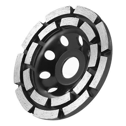 115/125/180mm Diamond Segment Grinding Cup Wheel Disc Double Row Stone Brick Tile Grinder Concrete Tools Grinding Wheels