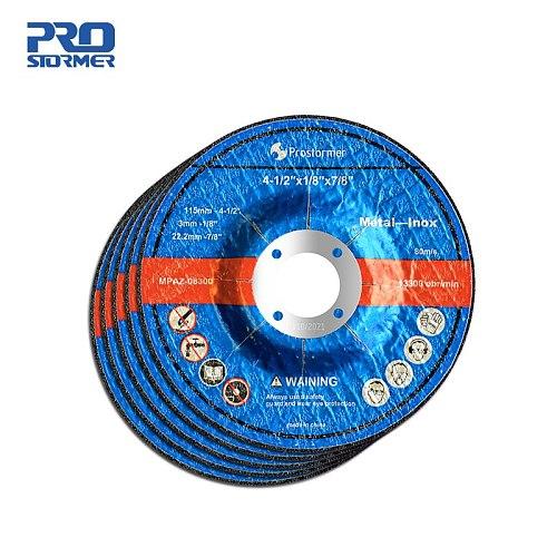 PROSTORMER 1mm/3mm 115mm Grinding Wheel Slice 5 Pieces Suitable for 20V Cordless Electric Angle Grinder