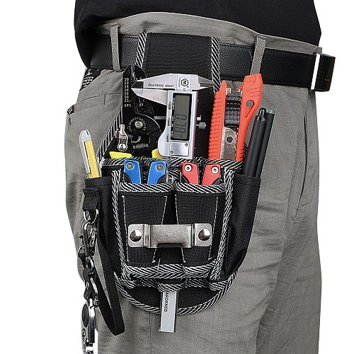 NICEYARD Drill Screwdriver Utility Kit Holder Drill Hammer Storage Waist Pocket Tool Belt Pouch Bag Carpenter Tool Bag