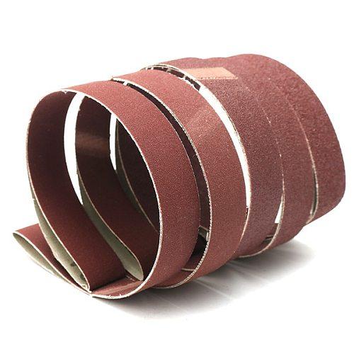 5pcs Sanding Belts 80/100/150/240/320 Grit Sandpaper 1  x 30  Aluminum Oxide Power Tool Sanding Belts Discs Kit