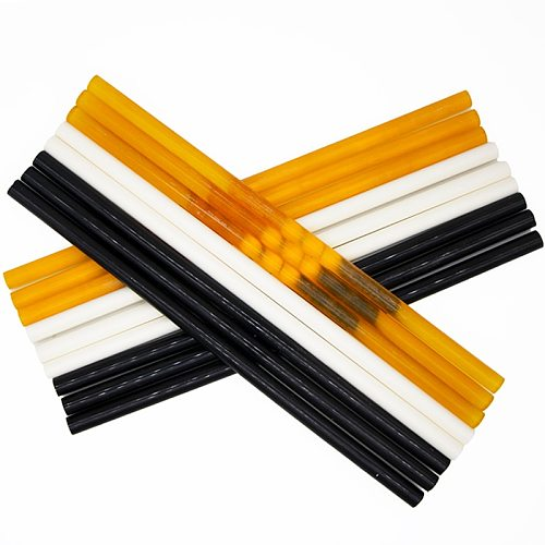 Hot Melt Glue Stick 11x300mm Black White Yellow Glue Stick  150 degree High Temperature Resistant 11mm Hot Glue