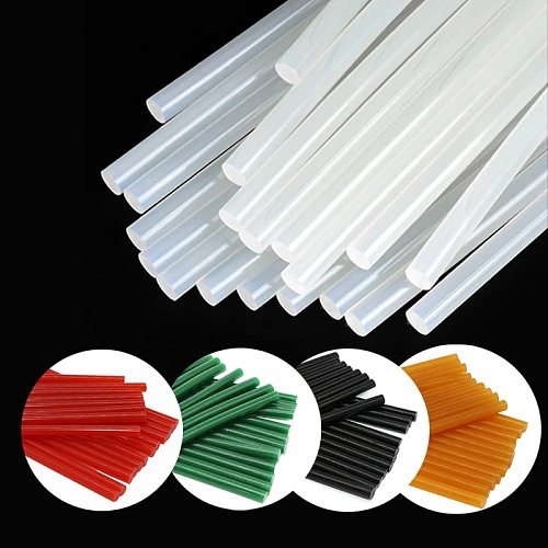 Hot Melt Glue Sticks Transparent Black Green Hot Glue Gun Stick 7mm-11mm High Adhesion for Hot Glue Gun Colorful Glue Sticks