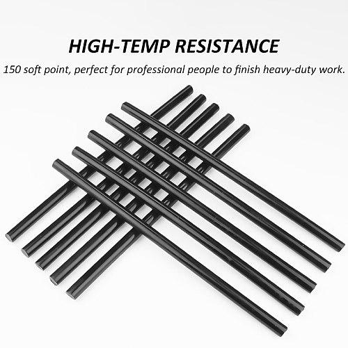 11mmx300mm Black Hot Melt Glue Stick  Resistance to high temperature 150 Degree for 11mm Glue Gun Adhension Tools10/20pcs/lot