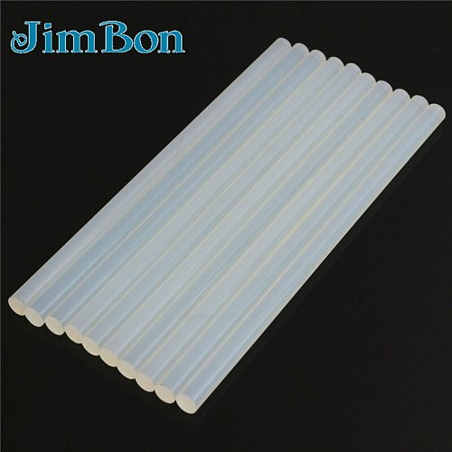 JimBon 20pcs/Lot 11mmx250m 200mm 300mm Hot Melt Glue Sticks For Electric Glue Gun Silicone Craft Album Repair Tools For Alloy