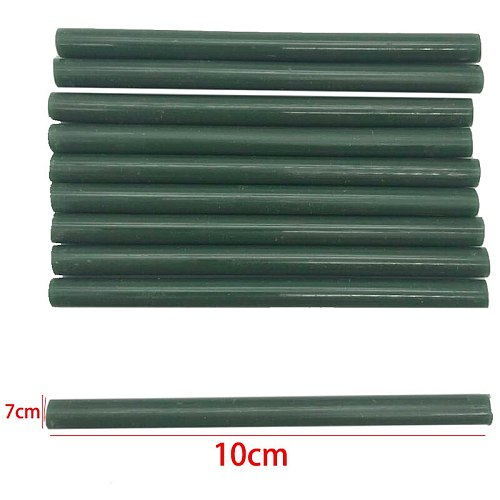 7MM Dark Green  Color Glue Sticks  For  Electric Glue Gun Car Audio Craft Repair Sticks Adhesive Sealing Wax Stick 10Pcs/lot