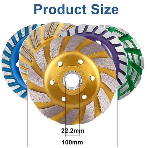 Professional 5 Type 4 Inch 100mm Diamond Grinding Wheel Disc Bowl Shape Grinding Cup Concrete Granite Stone Ceramics Tools