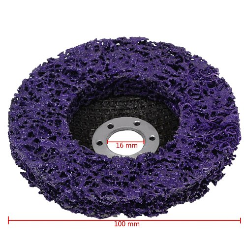 5pcs Poly Strip Disc Wheel Wood Metal Paint Rust Removal Clean Grinding Abrasive Wheels 100*16mm For Angle Grinder Mayitr