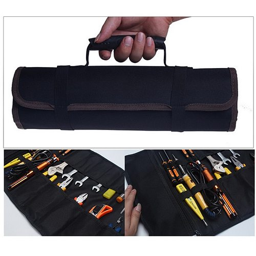 DIDIHOU Reel Rolling Tool Bag Pouch Professional Electricians Organizer Multi-purpose Car Repair Kit Bags