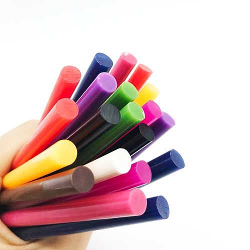 10pc Color Glue Sticks For Small Electric Glue Gun Craft Album Repair DIY Mix Color Vintage Sealing Wax Colored Glue Stick