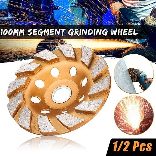 100mm Segment Grinding Wheel Diamond Grind Cup Disc Concrete Granite Stone Grinder DIY Power Tool Ceramics Metalworking