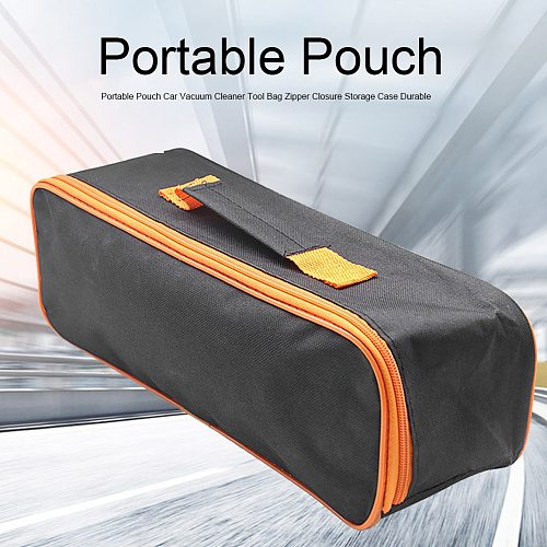 Organizer Storage Case Durable Zipper Closure Practical Vacuum Cleaner Tool Bag Wear Resistant Black Portable Pouch Accessory