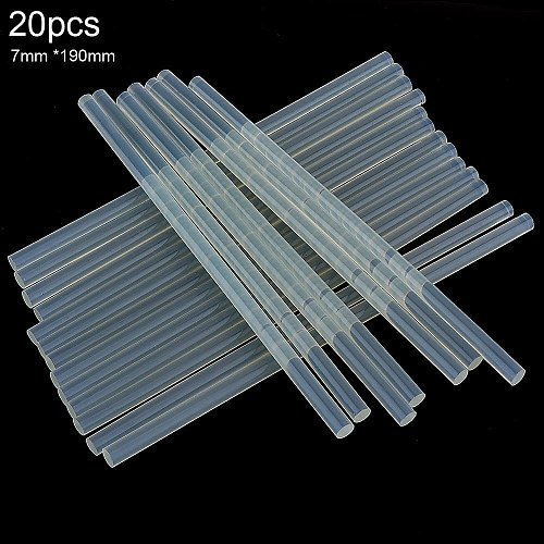 20pc/lot 7mmx190mm Transparent Hot-melt Gun Glue Sticks Gun Adhesive DIY Tools for Hot-melt Glue Gun Repair Alloy Accessories