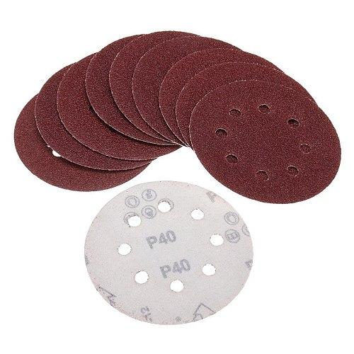 160Pcs/Set 5Inch Sanding Discs 125Mm 8 Hole Pads 40-2000 Grit Sander Sandpaper