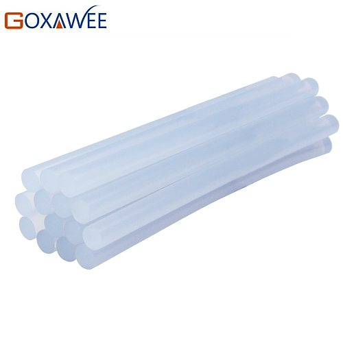 GOXAWEE 30PCS Non-Toxic Transparent Hot Melt Glue Sticks for Heat Pistol Glue with 7mm 11mm Dia DIY Repair Tools