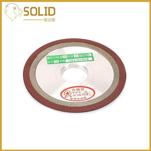 125mm Diamond Grinding Wheel Cutting Disc Resin Bond Grinder For Tungsten Steel Milling Cutter Tool Sharpener 150/240/320Grit